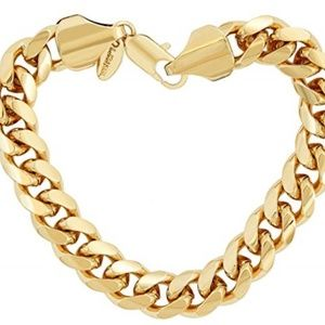 Gold Bracelet unisex 20X More Real 24k 10""